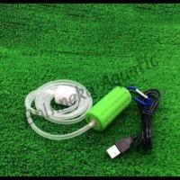 Portable Mini USB Aquarium Air Pump / Aerator Untuk Aquascape/Aquarium