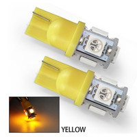SALE! Lampu LED Jagung T10 Senja Sein 5 LED SMD Mobil Motor - Kuning