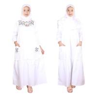 Baju Gamis Anak Putih Fayrany FGP-013 Size 6 - 15