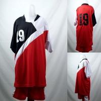 Setelan Baju/Kaos Sepak Bola/Futsal Team/Tim Anak Merah 2