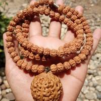 kalung kesehatan bandul biji besar rudraksha original