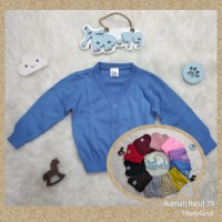 Basic knit cardigan rajut anak polos