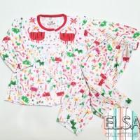 Piyama Bayi / Baju Tidur Anak Perempuan Usia 6-15 Bulan Motif Binatang