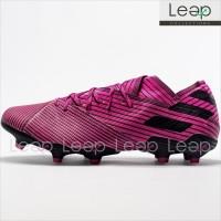 Sepatu Bola Adidas Nemeziz 19.1 Torsion System Shock Pink FG