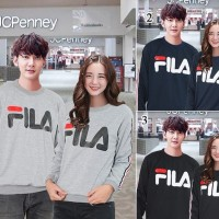 Baju Couple Lengan Panjang/Kaos Lengan Panjang Couple FILA manset