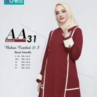 Atasan Alnita AA 31 Warna Marun Bahan Combed 20s Tunik Blus Kaos Busui