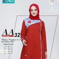 Atasan Alnita AA 32 Warna Merah Bata Bahan Combed 20s Tunik Kaos Busui
