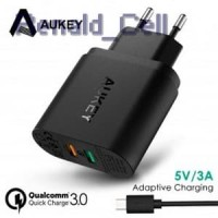 Aukey Charger USB 2 Port Quick Charge 3.0 PA T13 Black