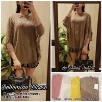 bohemian blouse - baju atasan rajut wanita murah real picture