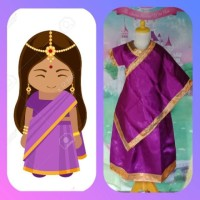 Kostum Anak Baju Tradisional Negara India Girl Type II