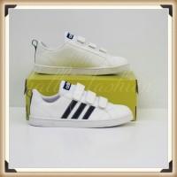 Sepatu Adidas Neo Advantage White Black Velcro 100/ Original BNWB
