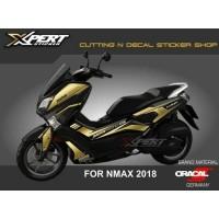 Sticker N max Gold Cutting Sticker Nmax Hitam 2018