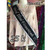 Selempang Wisuda | Selempang Nama Gelar custom bride to be murah