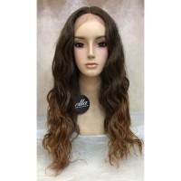 wig rambut palsu wanita fiber Lace FB185430 Light brown