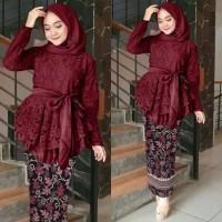 Baju Kebaya Brokat Model Setelan Batik Wanita Kinanti