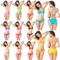 JBS Pakaian Renang Baju Bikini Pantai Set Atas Bawah Bahan Spandex Pol