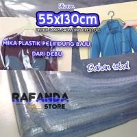 Mika gamis Plastik Baju ukuran 55x130cm cover pelindung baju dari debu