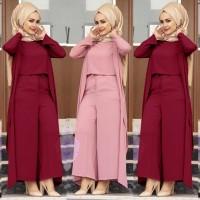 jumpsuit listi baju muslim remaja wanita trendy terbaru murah jp ist v