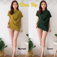 [Diva Top BC]Blouse wanita mosscrepe hijau/kuning