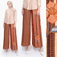 Stelan Kebaya brukat feli kombi celana panjang kulot Batik wanita