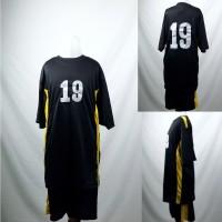 Setelan Baju/Kaos Sepak Bola/Futsal Team/Tim Anak Hitam 3