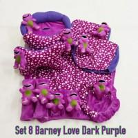 Bantal mobil set 8 Barney Love Dark Purple /Ungu