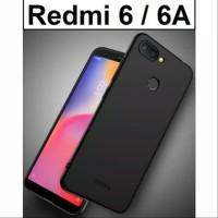 Black matte softcase Xiaomi redmi 6A, redmi 6 silikon slim case