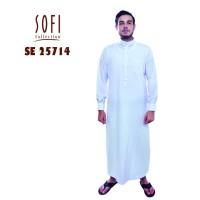 Setelan Jubah Gamis Baju Pakaian Arab Laki Laki Pria Dewasa Putih