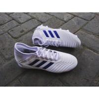 Sepatu bola adidas predator 19.3 Fg J White/boblue