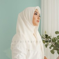 Hijab Jilbab Segi Empat Voal Premium Raisha Series - Broken White