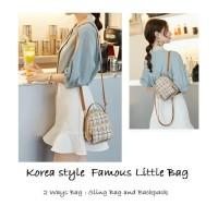 BP36 Korea style Famous Little Bag Sling Backpack Tas Ransel