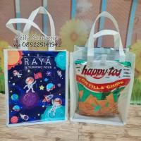 Tas Souvenir Ulang tahun / Goodie Bag Ultah Anak model mika custom