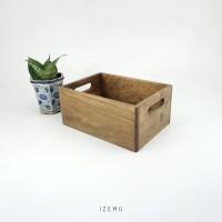 IZEMU WAKU CRATE A5 RUSTIC - Wooden Box / Kotak Container Kayu Pinus