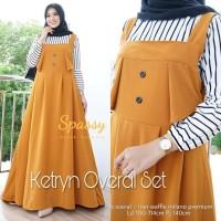 Baju Terusan Wanita Muslim Longdress Ketryn Overal Set Maxy Spassy