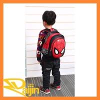 Tas Ransel 3 Dimensi Backpack Sekolah Anak Anti Air Spiderman