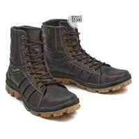 Sepatu Boots Pria Moralist BKS011 Kulit Asli Touring Gunung Non Safety - Hitam, 39