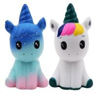 Mainan Squishy Model Slow-Rising Bahan PU Elastis Bentuk Unicorn untuk