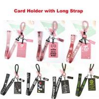 Kpop Neck Lanyard Strap Badge Holder Cases for ID Bus Card BTS BT21 Bl