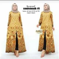 Long Coat Cendrawasih Batik Wanita