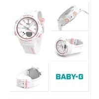 Jam Casio Baby G BGS-100RT-7A White List Pink Running Series Ori Bm