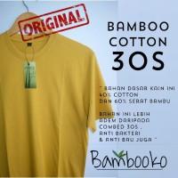 kaos polos Mustard / kuning busuk katun bambu (cotton bamboo)