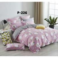 bedcover set motif domba warna pink 120x200x30 bahan katun jepang