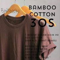 kaos polos Coklat katun bambu (cotton bamboo)