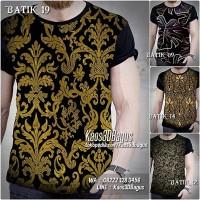 KAOS BATIK | Kaos Motif Batik Indonesia | Baju Kaos Budaya Etnik 01