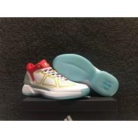 sepatu basket adidas rose 10 white red blue grade original