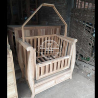 Ayunan box tempat tidur Anak/ Bayi bahan kayu jati gratis ongkir