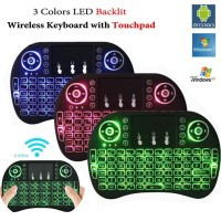 i8 RGB Wireless Mini Keyboard with Touchpad & Air Mouse