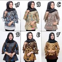 Blouse batik wanita / Atasan Batik Wanita / Baju Batik Kerja 05