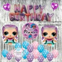 Paket Dekorasi Balon Ulang Tahun Happy Birthday Tema LOL Surprize