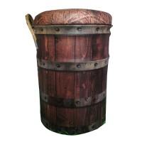 Kursi Tong bangku sofa Kaleng Tin Stool Wood Barrel untuk kursi Kafe c
